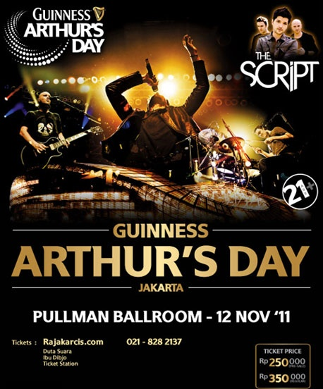 The Script @ Guinness Arthur's Day Jakarta 2012