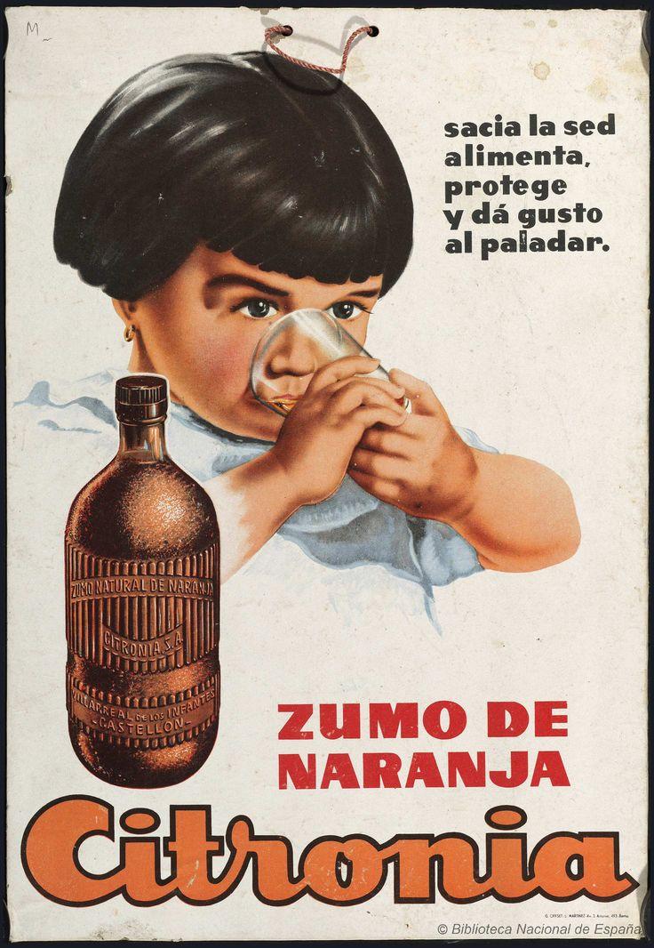 Citronia, zumo de naranja. Anónimo español s. XX — Dibujos, grabados y fotografías — 1920 http://bdh-rd.bne.es/viewer.vm?id=0000022601