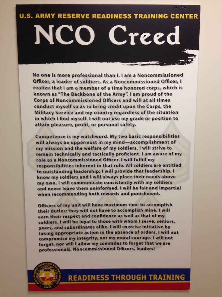history of the nco creed Armystudyguidecom provide extensive information about nco creed (armystudyguidecom.