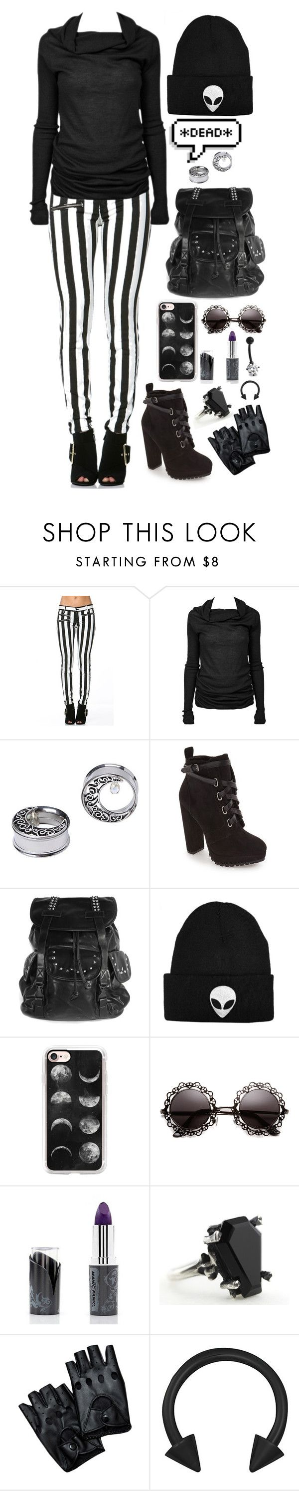 """Sweater weather is better weather"" by cherry-demon ❤ liked on Polyvore featuring Rick Owens, Daya, Casetify, Manic Panic NYC and Bling Jewelry"