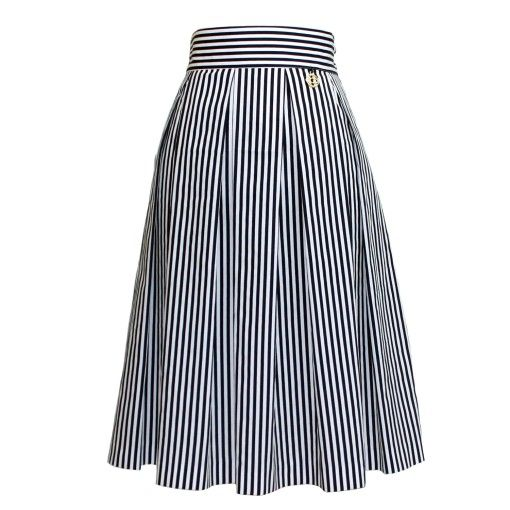 Maraboo by D.N.Gean navy chic pleated skirt $105€