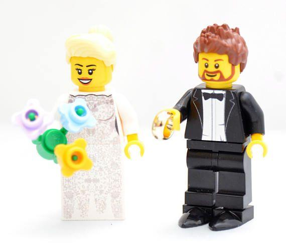 Custom Minifigures Bride /& Groom Ideal Wedding Gift Printed on LEGO Parts