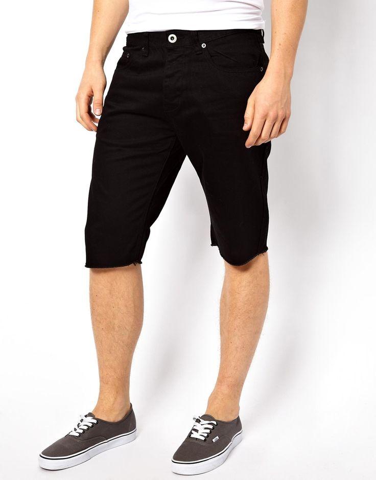 €59, Schwarze Jeansshorts von Sitka. Online-Shop: Asos. Klicken Sie hier für mehr Informationen: https://lookastic.com/men/shop_items/99957/redirect