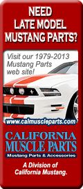 Text We have over 17,000 mustang parts and accessories at California Mustang Parts.