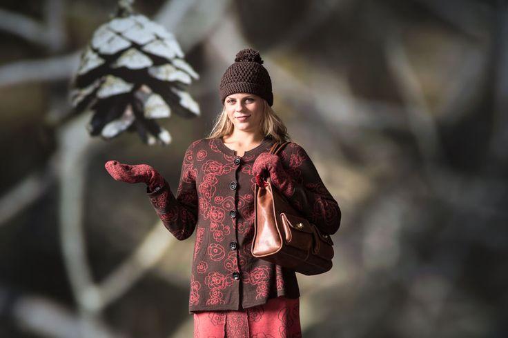 Cardigan Carina and Big handbag