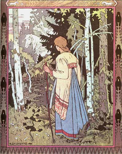 I love the artwork of Russian illustrator Ivan Bilibin