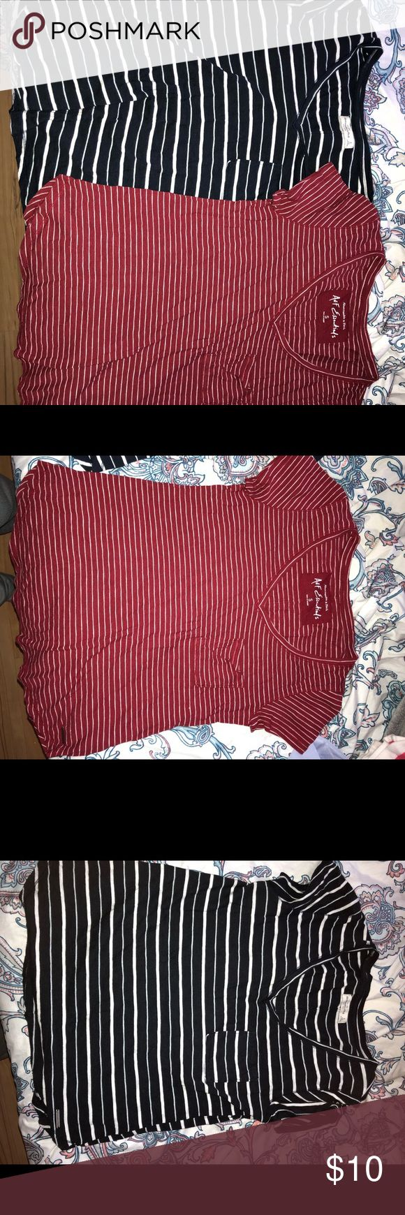 Navy blue and red Abercrombie and Fitch t-shirts 2 for 20 or 1 for 10 Abercrombie & Fitch Tops Tees - Short Sleeve
