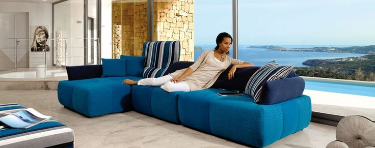 Good Cuba Libre Modern Modular Sofa Sectional By ROM, Belgium Modular Sofa Or  Sectional, Folding Back Pillows, Variety Of Fabric Or Leather.