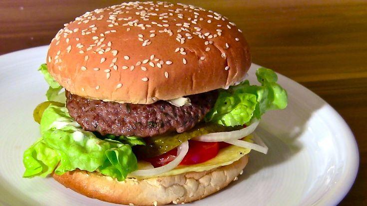 Cheeseburger-Hamburger selber machen-Burger-Frikadellen-Buletten