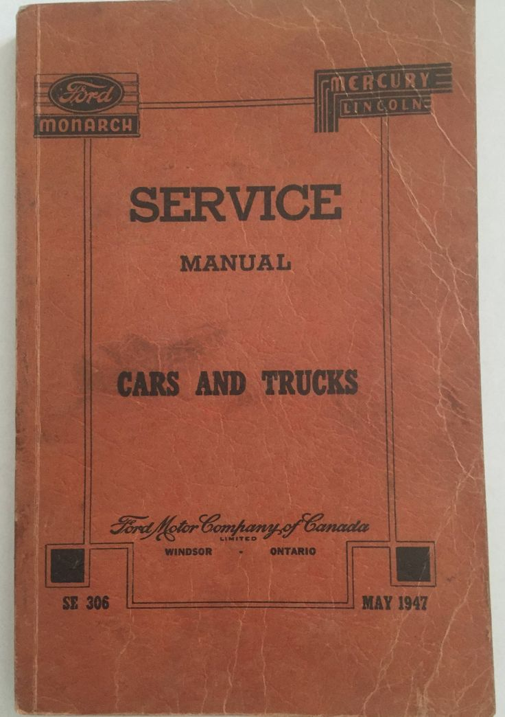 Ford Monarch, Mercury Lincoln, Service Manual, Cars and Trucks, May 1947, Vintage Ford by ChezShirlianne on Etsy