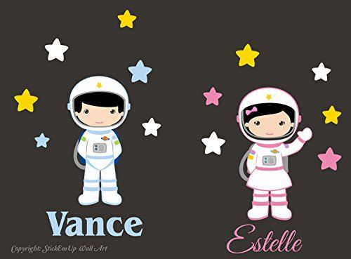 """Baby Nursery Kids Children's Wall Decals: Space Astronaught Cosmos Galaxy Themed 45"""" tall X 61"""" wide (Inches): Repositionable Removable Reusable Wall Art: Better than vinyl wall decals: Superior Material Nursery Wall Decals http://www.amazon.com/dp/B00VCO9TQE/ref=cm_sw_r_pi_dp_FWetvb08EER4M"""