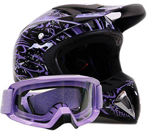http://motorcyclespareparts.net/adult-offroad-helmet-goggles-gear-combo-dot-motocross-atv-dirt-bike-mx-black-purple-splatter-small/Adult Offroad Helmet & Goggles Gear Combo DOT Motocross ATV Dirt Bike MX Black Purple Splatter ( Small )