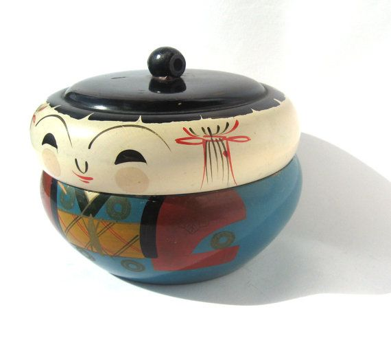 lidded kokeshi; these are so cute; lacquerware