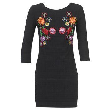 Rövid ruhák Desigual RIZOUNE Fekete  30889.00 Ft