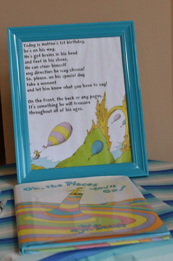 oh the places you u2019ll go dr  seuss birthday party theme