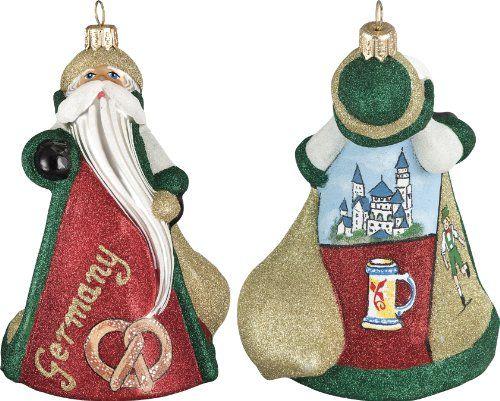 Glitterazzi International German Santa Ornament
