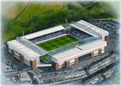 Ewood Park in Art, home of Blackburn Rovers F.C.
