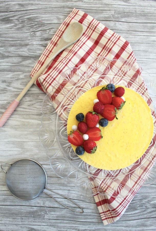 Mousse zafferano e mango #dessert #sweet #fruit