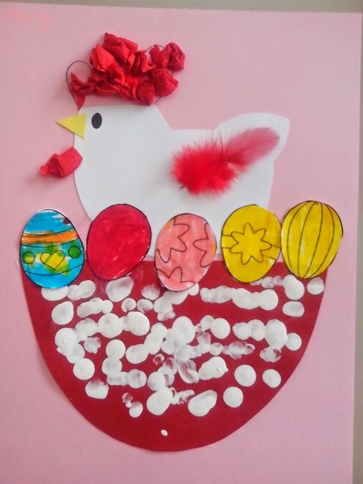 Maro's kindergarten: Πασχαλινές κοτούλες & αυγά! Easter chicks & eggs!