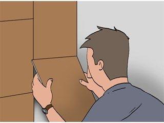 Revêtir un mur de dalles de liège - Portes et escaliers - Livios