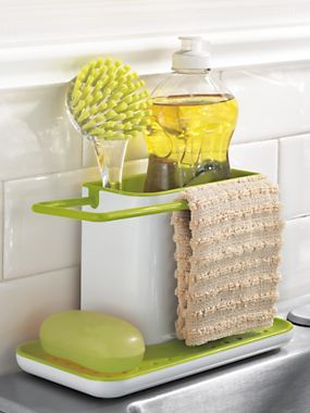 Tidy Sink Caddy  Kitchen Sink Caddy Solutions: I Have One To These But In  Brushed Nickel, And I Have To Tell You, Make Sure Itu0027s PLASTIC, Or Youu0027ll  End Up ...