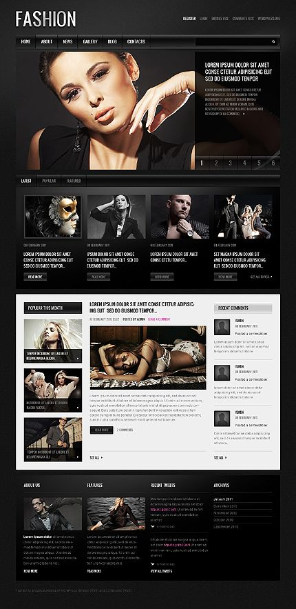 Fashion Models WordPress Themes by Mercury