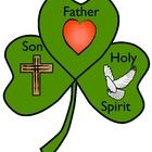 Free+Shamrock+template+to+create+a+craft+in+honor+of+the+Blessed+Trinity. There+is+a+large+heart+to+symbolize+God+the+Father. There+is+a+cross+to+...