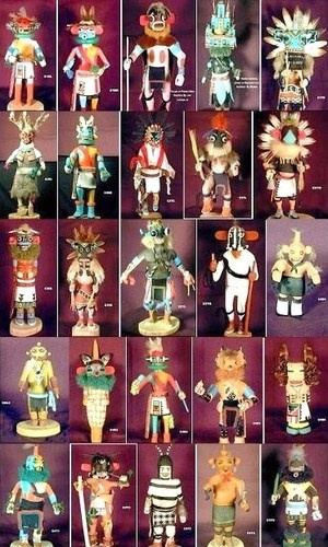 Vintage Hopi Indian Kachina Dolls -1960-1980s- 25 pc LOT Famous Hopi Carvers | eBay