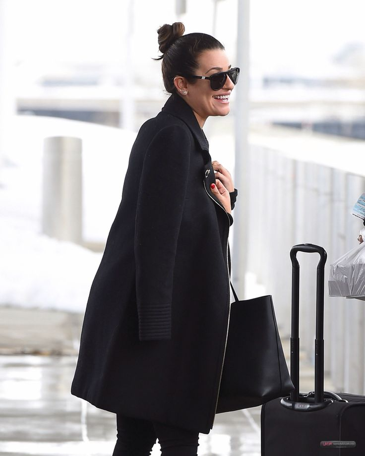Lea Michele at JFK