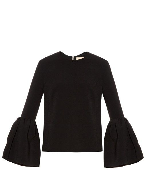 Roksanda Truffaut bell-sleeve stretch-cady top