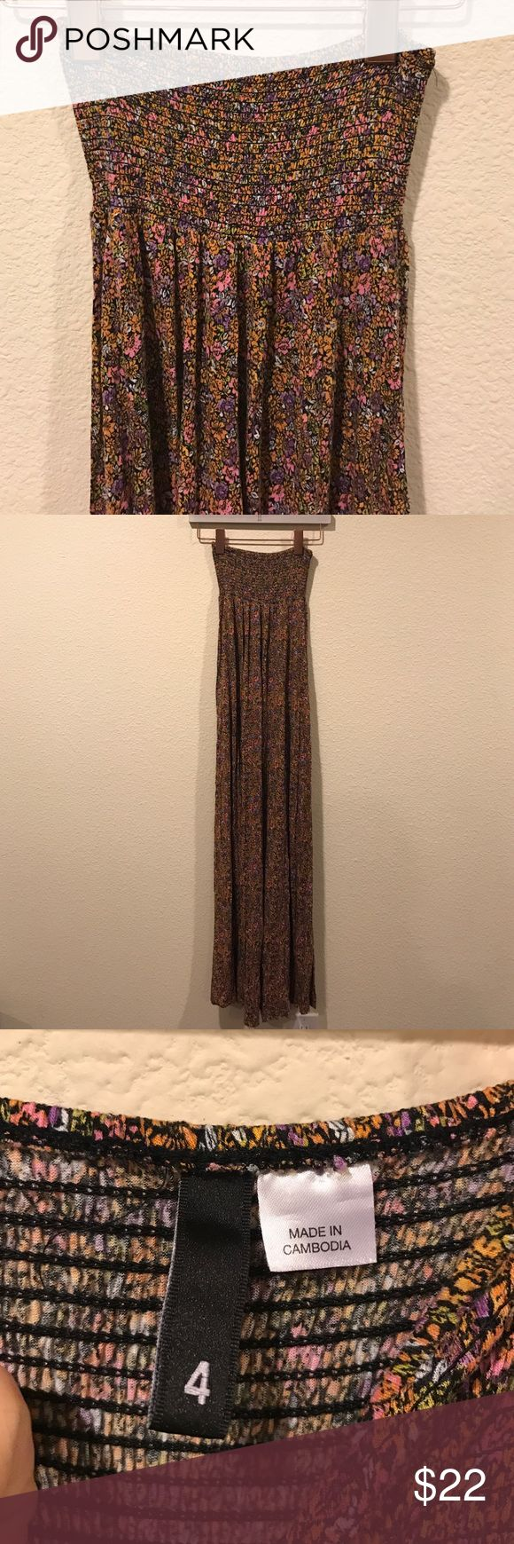 Floral strapless maxi dress EUC! From Lauren Kay Sims blog. No trades. All offer through the offer button only Dresses Maxi
