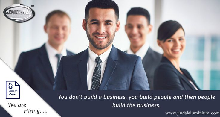 You don't build a business, you build people and then people build the business. Our employees are our strength and @ JAL, we are one big family! Transparent appraisals, good compensations, perks and a positive work place – we make sure that our employees get to work only in such an environment. Check out current openings @ http://www.jindalaluminium.com/jindal-hr-homepage.php and join the JAL family today. #JAL | #CareerOpportunities