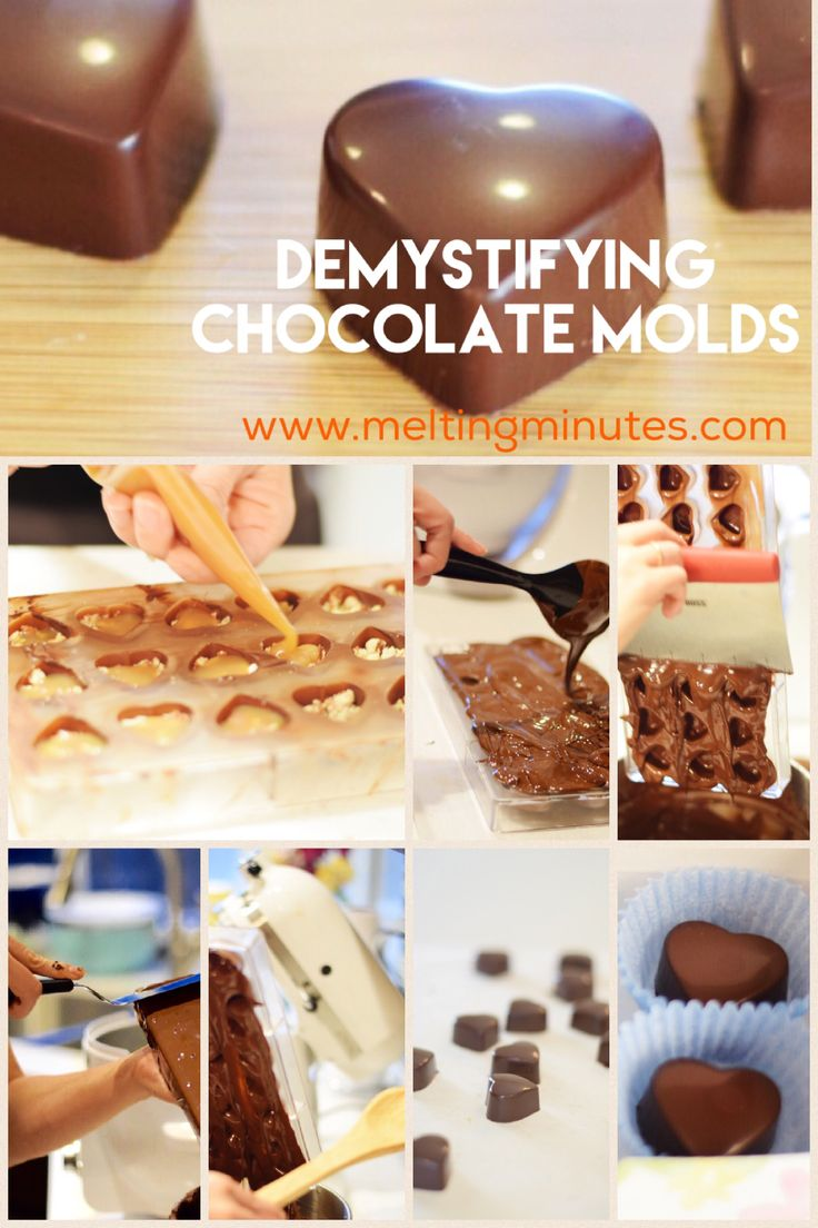 How to make chocolate candy at home using molds. Stop by Melting Minutes for more!