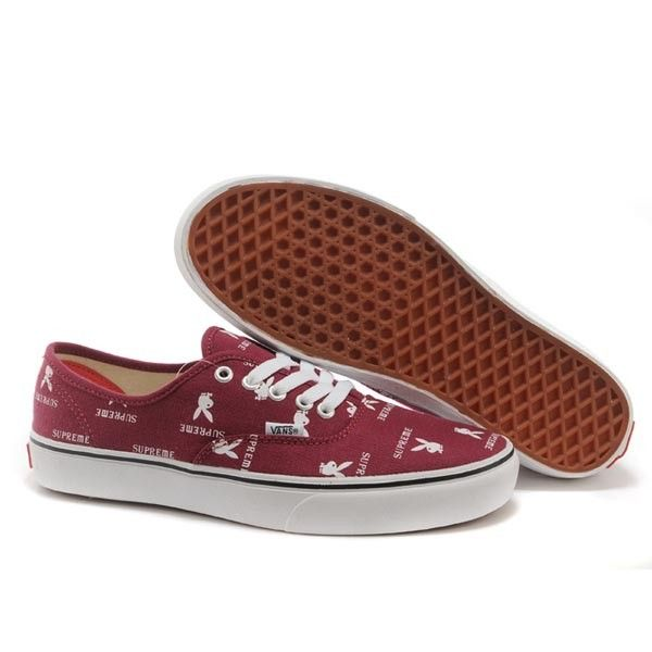 Vans Authentic Pro Shoes MensWomens Classic Canvas Sneakers Red Supreme X Playboy [vans4u4016] - $39.99 : Vans Shop, Vans Shop in California
