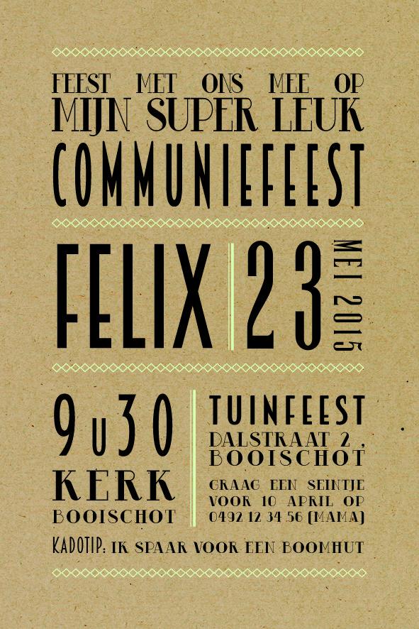 #communie, #uitnodiging, #kraft