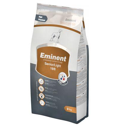 Корм Eminent Senior Light с хондроитином - - для собак с лишним весом, - для пожилых собак   - High Premium класс, - хондроитин и глюкозамин, - омега-3 и омега-6 жирные кислоты, - L-карнитин для сердца, - биотин для шерсти, - полный комплекс витаминов, микроэлементов и минералов