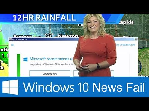 Microsoft Windows 10 Update Notification Interrupts Weather Forecast [Video] - During a live weather forecast, Microsoft Windows 10 decided it was a good time to show an update notification. Really, Microsoft? Really?