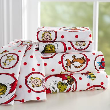 The Grinch™ Flannel Sheet Set #pbteen