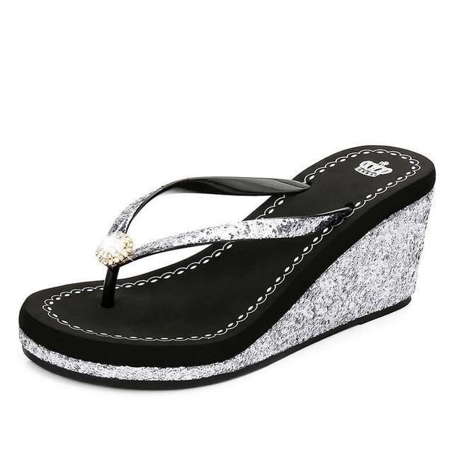VTOTA Chinelos Chinelos Sapatos Femininos Chinelos de Bling Chinelos de Praia Femininos …   – Shoes