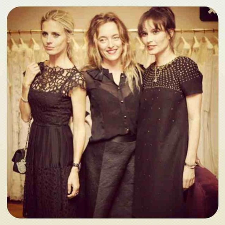 Loquet London and Temperley London. Laura Bailey, Alice Temperley and Sheherazade Goldsmith.