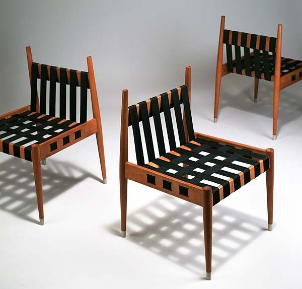 Egon Eiermann; #SE 121 Beech Chairs by  Wilde & Spieth from the German Embassy in Washington, 1962.