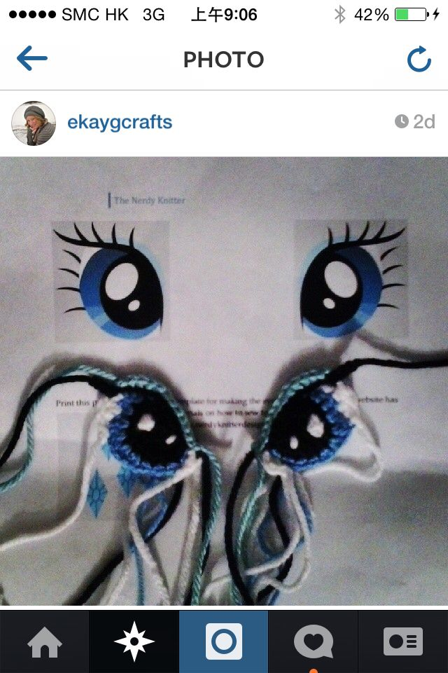Beautiful crochet eyes - inspiration.                                                                                                                                                                                 More