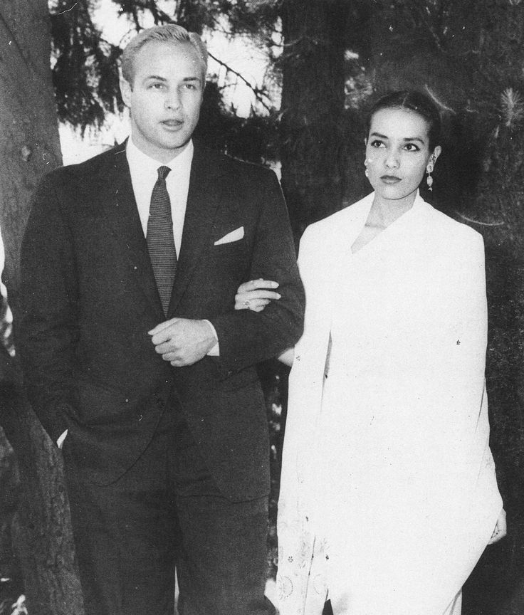 Marlon Brando and Anna Kashfi on their wedding day, 1957.  (Married 1957–1959)