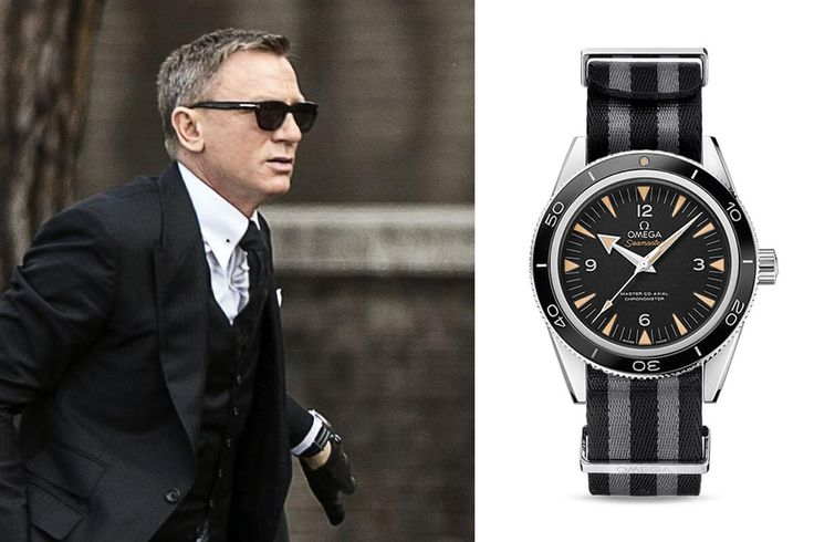MONOCHROME: Daniel Craig to wear an Omega Seamaster 300 Master Co-Axial on striped NATO Strap in James Bond 007 Spectre