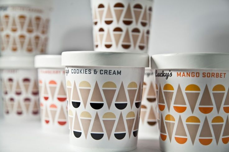 Lucky's Ice Cream packaging by TDA Boulder.