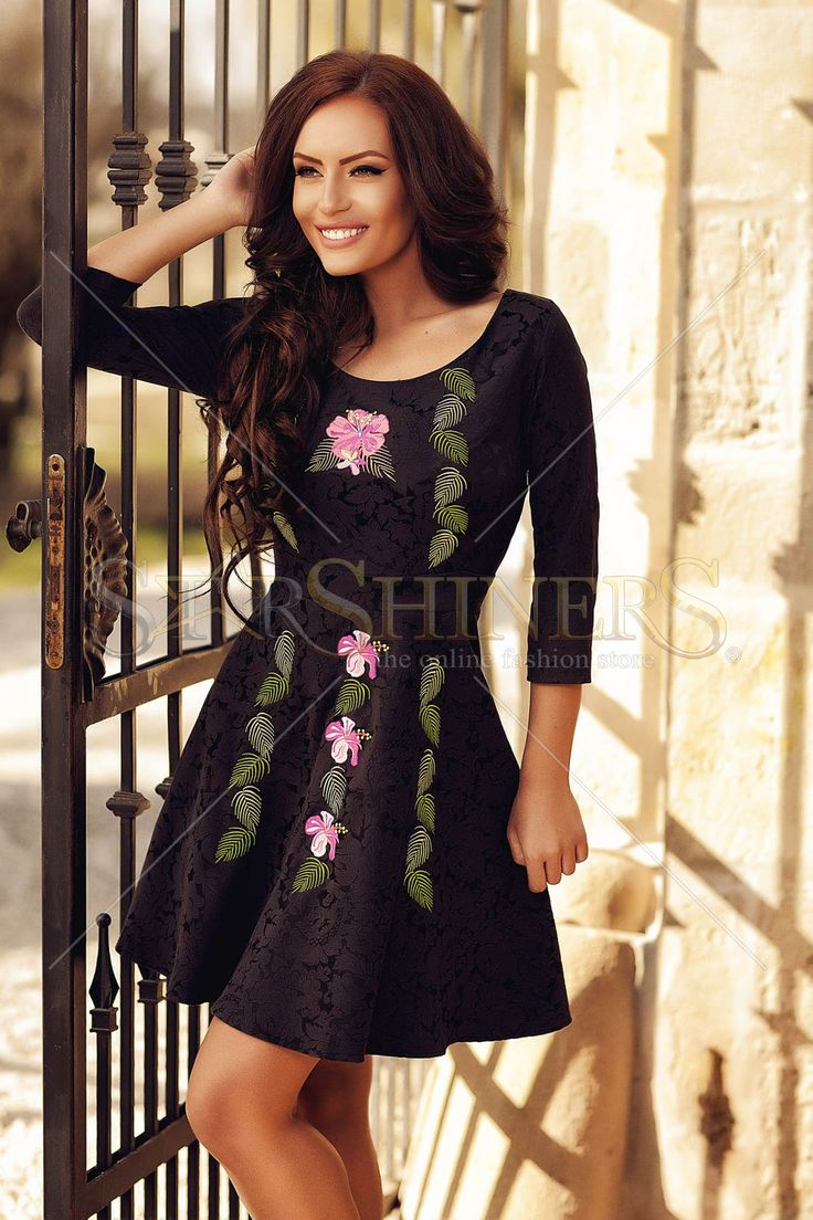 StarShinerS Brodata Maldive Black Dress