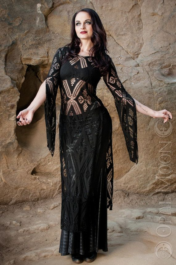 NEW: The Black Crochet Panel Dress by Opal by OpalMoonDesigns