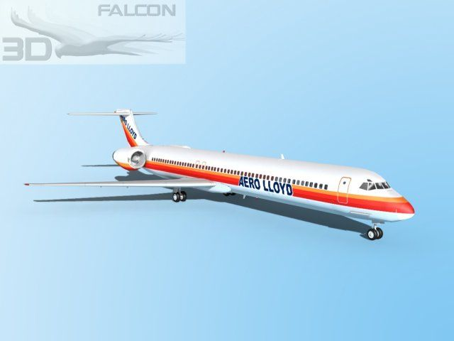 3D Model Falcon3D MD 80 Aero Lloyd c4d, obj, 3ds, fbx, ma, lwo 71481