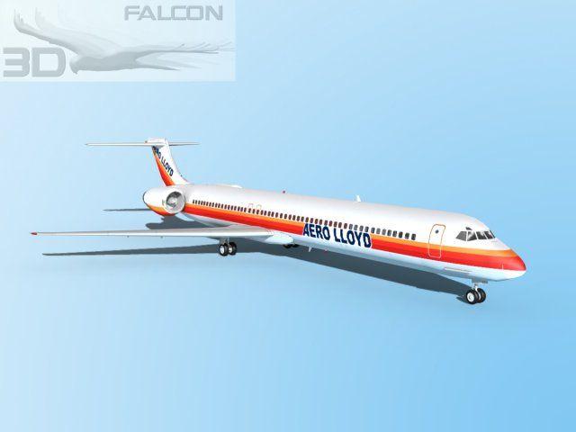3D Model Falcon3D MD 80 Aero Lloyd c4d, obj, 3ds, fbx, ma, lwo 71481