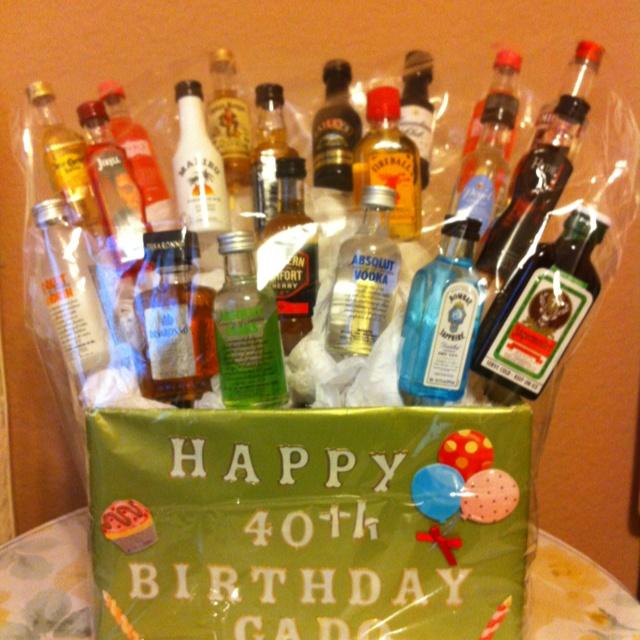 40th Birthday alcohol cake